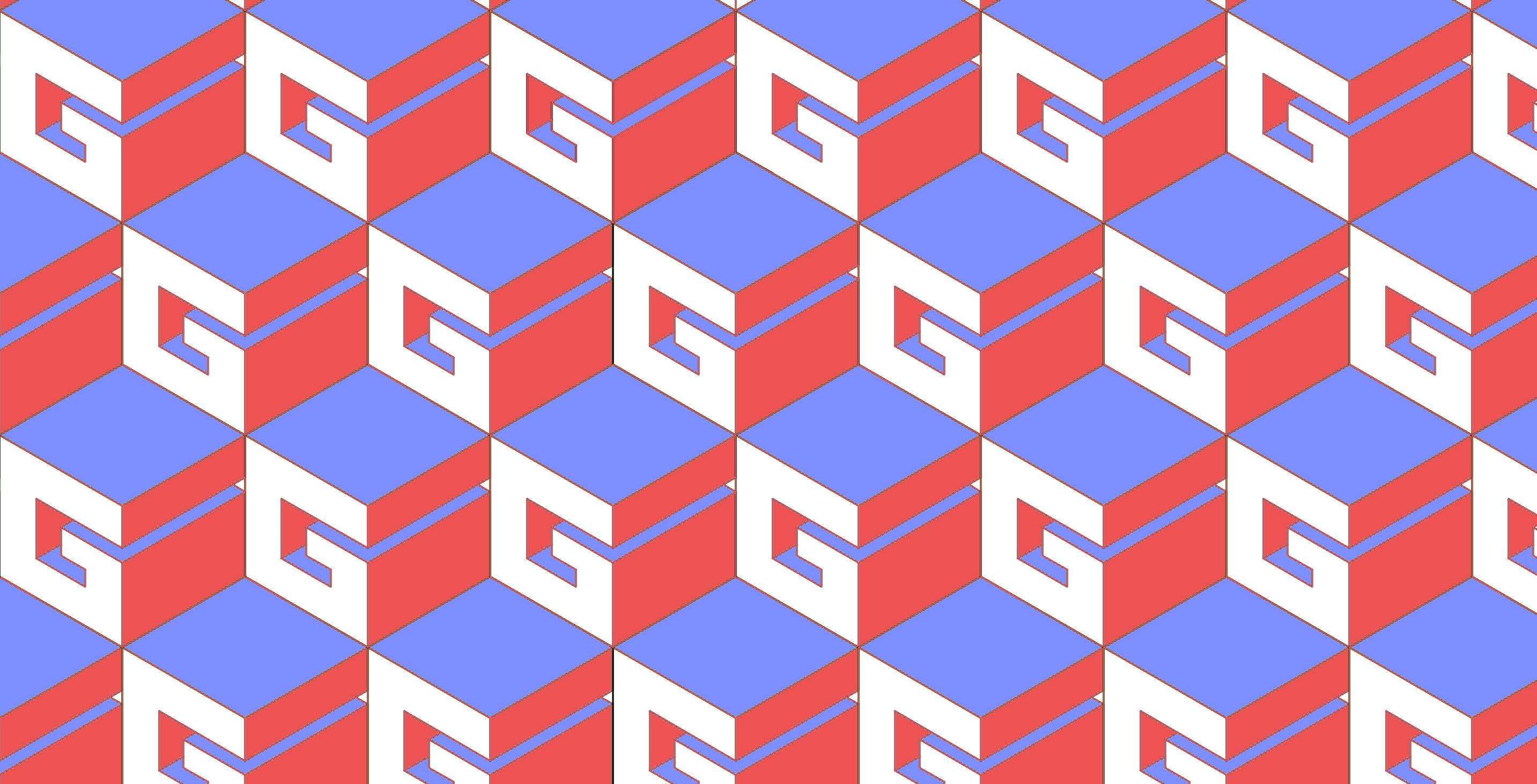 Gonzo Industrial logo repeating in a geometric print
